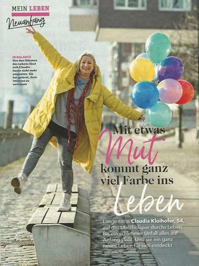 Presseartikel Mein Leben über Claudia Kloihofer-Haupt